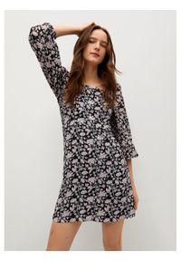 mango - Mango Sukienka codzienna Rocio 87054059 Czarny Regular Fit. Okazja: na co dzień. Kolor: czarny. Typ sukienki: proste. Styl: casual