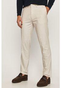 Marciano Guess - Spodnie. Okazja: na co dzień. Kolor: szary. Materiał: tkanina. Wzór: gładki. Styl: casual