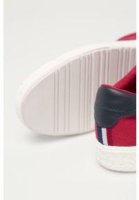U.S. Polo Assn. - Tenisówki. Nosek buta: okrągły. Zapięcie: sznurówki. Kolor: czerwony. Materiał: guma, syntetyk, materiał, skóra. Szerokość cholewki: normalna #3