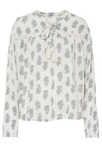 Biała bluzka bonprix paisley