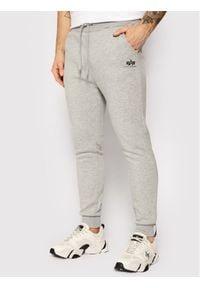 Alpha Industries Spodnie dresowe Basic Jogger 116370 Szary Slim Fit. Kolor: szary. Materiał: dresówka