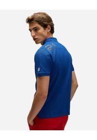 North Sails - NORTH SAILS - Niebieska koszulka polo Saint-Tropez. Typ kołnierza: polo. Kolor: niebieski. Materiał: bawełna. Wzór: haft, aplikacja