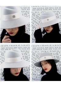 MAISON MICHEL PARIS - Szary kapelusz Virginie. Kolor: szary. Wzór: aplikacja