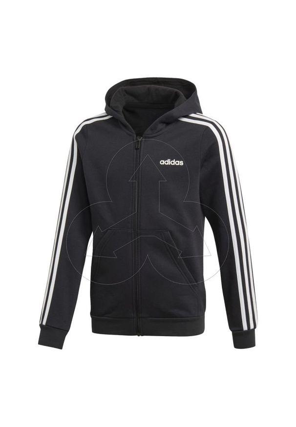 Czarna bluza Adidas z długim rękawem, w kolorowe wzory