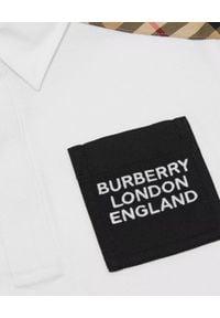 BURBERRY CHILDREN - Biała koszulka polo 0-2 lat. Okazja: na co dzień. Typ kołnierza: polo. Kolor: biały. Materiał: bawełna. Sezon: lato. Styl: elegancki, casual