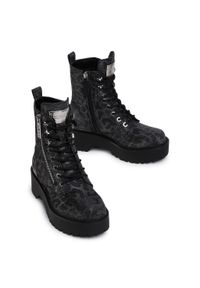 Czarne buty trekkingowe Guess z cholewką