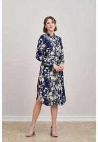Marie Zélie - Sukienka Eliza Kobe. Materiał: bawełna, wiskoza. Długość rękawa: długi rękaw. Typ sukienki: szmizjerki. Styl: klasyczny
