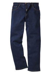 Niebieskie jeansy bonprix z podwyższonym stanem, klasyczne
