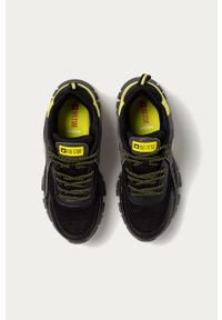 Czarne sneakersy Big-Star z okrągłym noskiem, z cholewką, na sznurówki