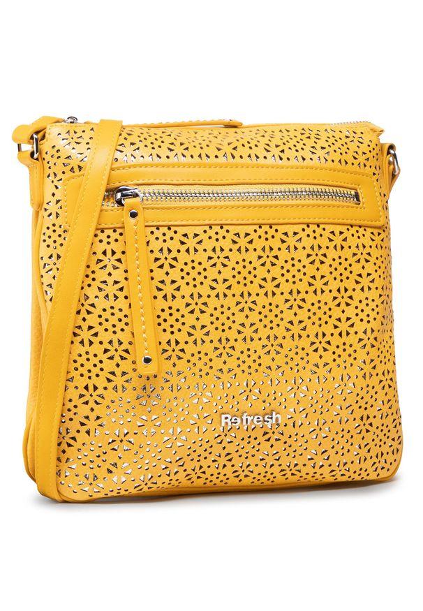 Refresh - Torebka REFRESH - 83370 Yellow. Kolor: żółty. Materiał: skórzane. Styl: wizytowy