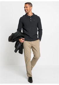 Szary sweter bonprix polo, melanż, klasyczny