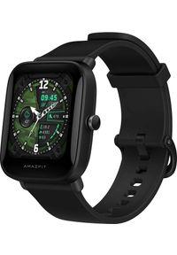 AMAZFIT - Smartwatch Amazfit Bip U Czarny (ZEG-SMW-0067). Rodzaj zegarka: smartwatch. Kolor: czarny