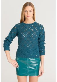 Sweter Elisabetta Franchi z długim rękawem, na spacer, krótki