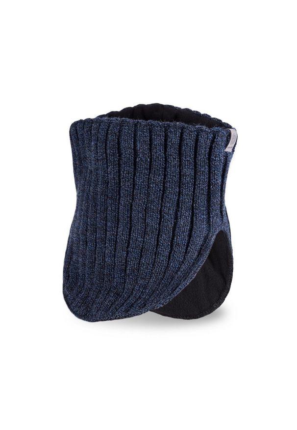Komin, golf męski PaMaMi - Granatowa mulina. Kolor: niebieski. Materiał: akryl. Sezon: zima