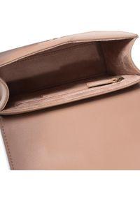 Brązowa torebka Elisabetta Franchi z aplikacjami, zdobiona