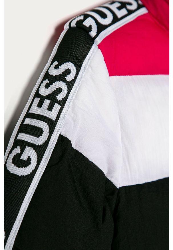 Wielokolorowa kurtka Guess Jeans z kapturem