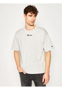 Champion T-Shirt Deconstructed C Logo 214420 Szary Muscle Fit. Kolor: szary