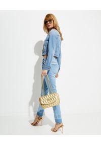 Versace Jeans Couture - VERSACE JEANS COUTURE - Krótka kurtka jeansowa. Kolor: niebieski. Długość rękawa: długi rękaw. Długość: krótkie