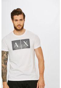 Biały t-shirt Armani Exchange z nadrukiem