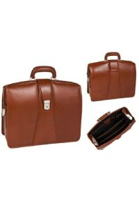 Teczka na laptopa MCKLEIN Harrison 17 cali Brązowy. Kolor: brązowy. Materiał: skóra, materiał. Styl: klasyczny, elegancki #6
