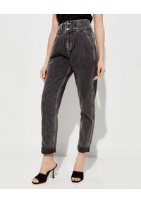 ONETEASPOON - Czarne jeansy Hustlers High Waist. Stan: podwyższony. Kolor: szary. Wzór: aplikacja. Sezon: lato