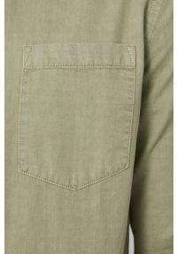 medicine - Medicine - Koszula jeansowa Ancient Desert. Typ kołnierza: button down. Kolor: zielony. Materiał: jeans. Wzór: gładki