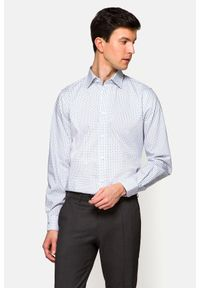 Lancerto - Koszula Biała z Nadrukiem Molly. Kolor: biały. Materiał: jeans, bawełna, wełna, tkanina, włókno. Wzór: nadruk