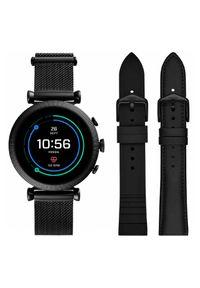 Czarny zegarek Fossil smartwatch