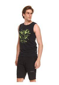 TOP SECRET - T-shirt bez rękawów. Kolor: czarny. Materiał: bawełna, tkanina. Długość rękawa: bez rękawów. Wzór: nadruk. Sezon: lato