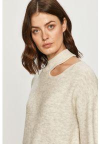 Szary sweter Silvian Heach na co dzień, klasyczny, długi