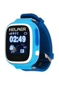 Helmer Inteligentny dotykowy zegarek z lokalizatorem GPS LK 703 niebieski. Rodzaj zegarka: cyfrowe. Kolor: niebieski