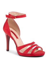 Czerwone sandały Libero eleganckie