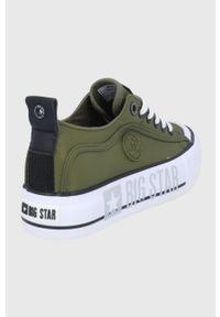 Big-Star - Big Star - Tenisówki. Nosek buta: okrągły. Zapięcie: sznurówki. Kolor: zielony. Materiał: guma. Obcas: na platformie