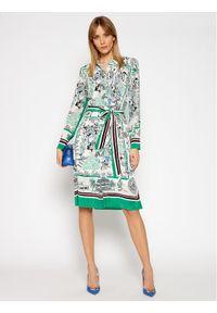 Sukienka TOMMY HILFIGER w kolorowe wzory, koszulowa