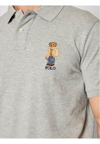 Polo Ralph Lauren Polo 710829164003 Szary Custom Slim Fit. Typ kołnierza: polo. Kolor: szary