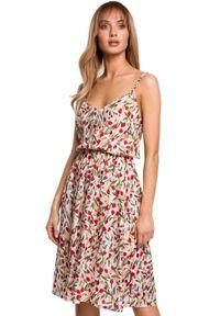 Sukienka MOE w kwiaty, casualowa