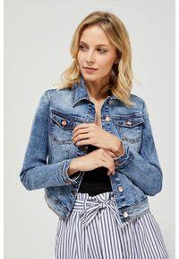 MOODO - Katana jeansowa. Typ kołnierza: bez kaptura. Materiał: jeans. Długość rękawa: długi rękaw. Długość: długie