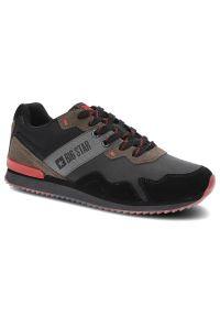 Big-Star - Sneakersy BIG STAR II174212 Czarny. Okazja: do pracy, na co dzień. Kolor: czarny. Materiał: zamsz, materiał. Szerokość cholewki: normalna. Wzór: aplikacja. Obcas: na płaskiej podeszwie