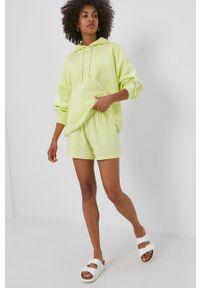 adidas Originals - Szorty. Okazja: na co dzień. Kolor: żółty. Materiał: dzianina, bawełna. Styl: casual
