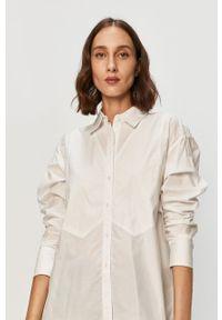 Biała koszula Armani Exchange casualowa, z klasycznym kołnierzykiem