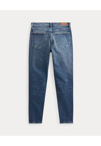 Ralph Lauren - RALPH LAUREN - Spodnie jeansowe High-Rise Skinny. Kolor: niebieski. Wzór: aplikacja