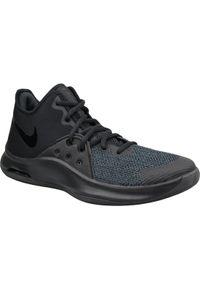 Czarne buty sportowe Nike z cholewką, do koszykówki