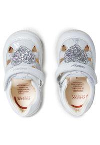 Geox - Sandały GEOX - B N.Balu' G. A B150QA 085MA C1000 White. Kolor: biały. Materiał: skóra. Wzór: aplikacja. Sezon: lato
