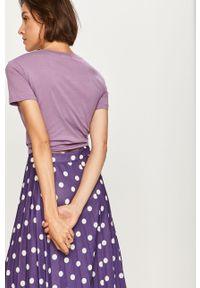 Fioletowa bluzka ANSWEAR na co dzień, z aplikacjami, casualowa