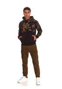 TOP SECRET - Bluza nierozpinana męska reglan, kangurka. Kolor: brązowy #2
