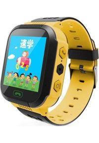 Żółty zegarek smartwatch