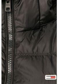 Czarna kamizelka Tommy Jeans casualowa, z kapturem, na co dzień #6