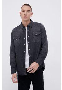 Wrangler - Koszula jeansowa. Typ kołnierza: kołnierzyk klasyczny. Kolor: szary. Materiał: jeans. Długość rękawa: długi rękaw. Długość: długie. Styl: klasyczny