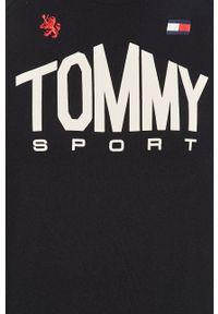 Tommy Sport - T-shirt. Okazja: na co dzień. Kolor: niebieski. Materiał: dzianina. Wzór: nadruk. Styl: sportowy