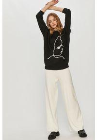 Czarny sweter Answear Lab wakacyjny, długi, z długim rękawem